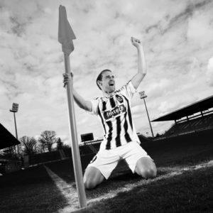 Businessfotografie mit Fussballspieler in Hamburg
