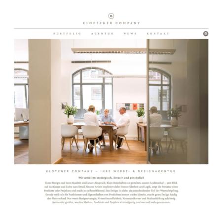 Unternehmensfotografie für die Hamburger Design- und Werbeagentur Klötzner
